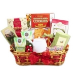 Snow Time Tea Sampler Holiday Gift Basket
