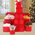 Chocolate Decadence Christmas Gift Tower