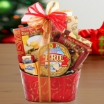 Cheese and Crackers Holiday Gift Basket