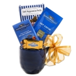 Ghirardelli Chocolate Blue Christmas Gift Mug