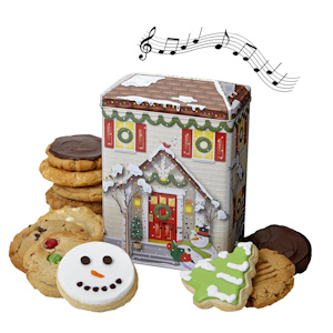 Musical Holiday House Cookie Tin imagerjs