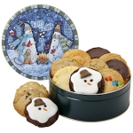 Warm Wishes Snowman Cookie Tin