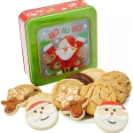 Santa Window Cookie Tin