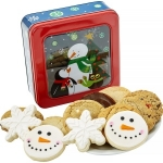 Snowman Cookie Window Tin