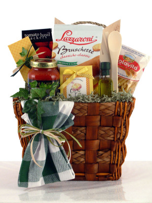Pasta Perfect Italian Gift Basket data-pin-no-hover=
