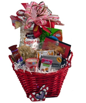 Ladies' Choice Diabetic Valentine Basket imagerjs