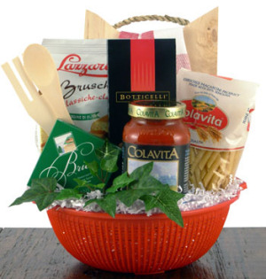 What's Cooking Pasta Gift Basket data-pin-no-hover=