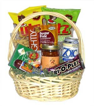 Low Carb Delights Gift Basket data-pin-no-hover=