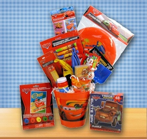 Boys Fun Car Themed Gift Basket imagerjs