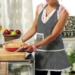 Retro Style V-Neck Mini Dot Apron