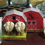 Cow Candle Favors in Barn Gift Box