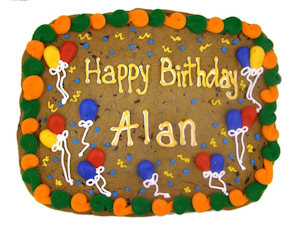 Happy Birthday Half Sheet Personalized Cookie Cake imagerjs
