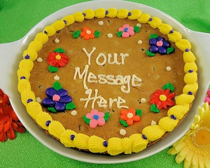 Personalized Message Giant Cookie Cake imagerjs