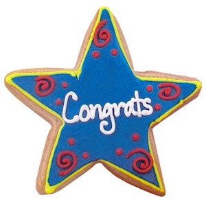 Congratulations Star Decorated Cookie Favors imagerjs