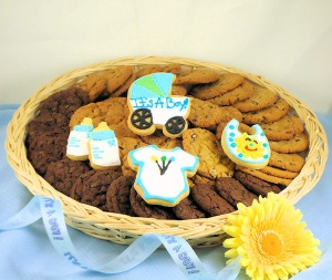Baby Boy Cookie Basket imagerjs