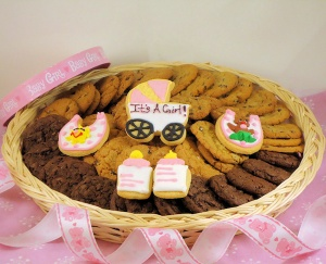Baby Girl Cookie Basket imagerjs