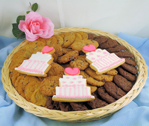 Wedding Wishes Cookie Basket imagerjs