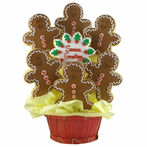 Holiday Gingerbread Men Sugar Cookie Bouquet imagerjs