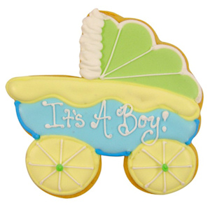 Baby Boy Carriage Sugar Cookie Favors imagerjs