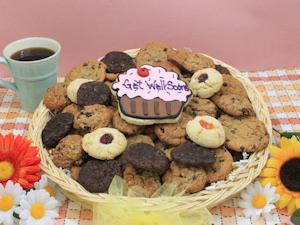 Get Well Wishes Deluxe Cookie Basket imagerjs