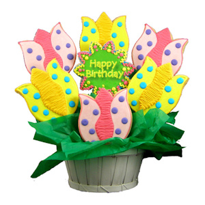 Blooming Birthday Tulips Sugar Cookie Bouquet imagerjs