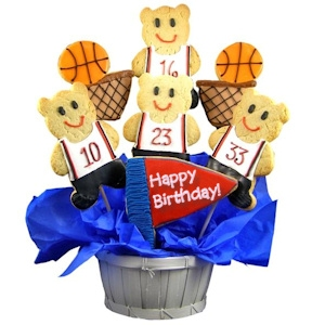Slam Dunk Birthday Basketball Sugar Cookie Bouquet imagerjs