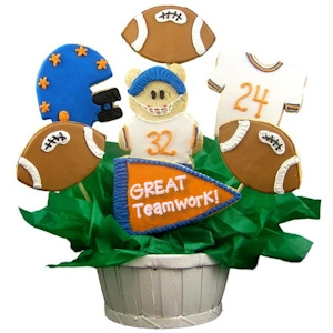 Great Teamwork Sugar Cookie Football Bouquet imagerjs