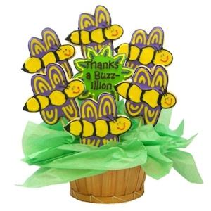 Thanks a Buzz-illion Sugar Cookie Bee Bouquet imagerjs
