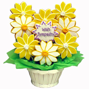 Deepest Sympathy Daisies Sugar Cookie Bouquet imagerjs