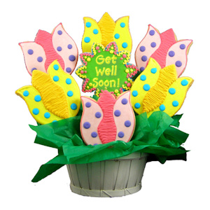 Get Well Wishes Tulip Sugar Cookie Bouquet imagerjs