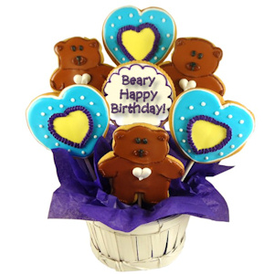 Beary Happy Birthday Sugar Cookie Bouquet imagerjs