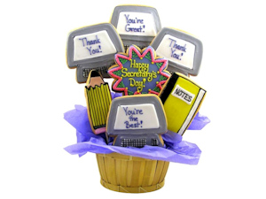 Secretary's Day Sugar Cookie Basket imagerjs