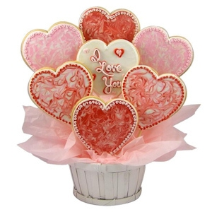 With All My Heart Sugar Cookie Basket imagerjs