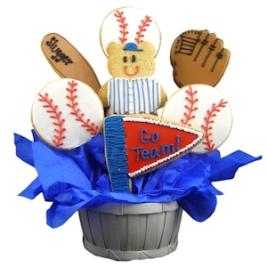 Baseball Slugger Sugar Cookie Basket imagerjs
