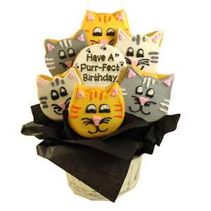 Have a Purr-fect Birthday Sugar Cookie Bouquet imagerjs