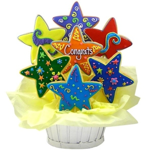 Congrats Star Sugar Cookie Basket imagerjs