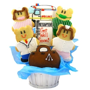 Doctors & Nurses Sugar Cookie Basket - Get Well imagerjs
