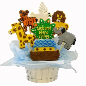 Noah's Ark Sugar Cookie Basket imagerjs