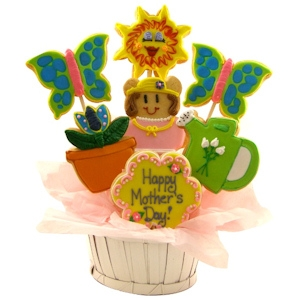 Mother's Day Garden Sugar Cookie Basket imagerjs