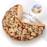Almond Covered Giant Fortune Cookie