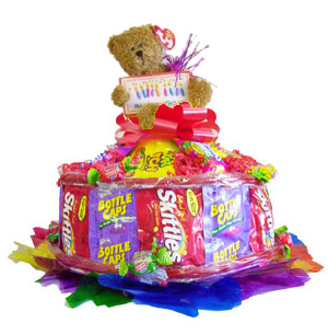 Colorful Birthday Candy Cake data-pin-no-hover=