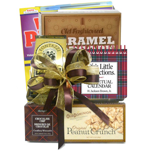 Fathers Book & Snack Gift Basket imagerjs