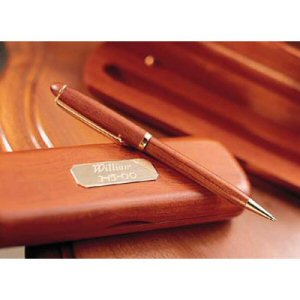 Personalized Rosewood Pen and Case imagerjs
