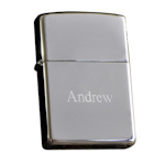 Engraved Zippo Chrome Lighter
