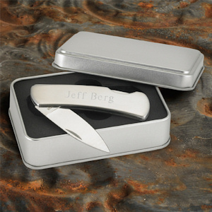Personalized Stainless Steel Lock Back Knife imagerjs