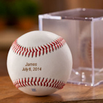 Personalized Rawlings Baseball with Case