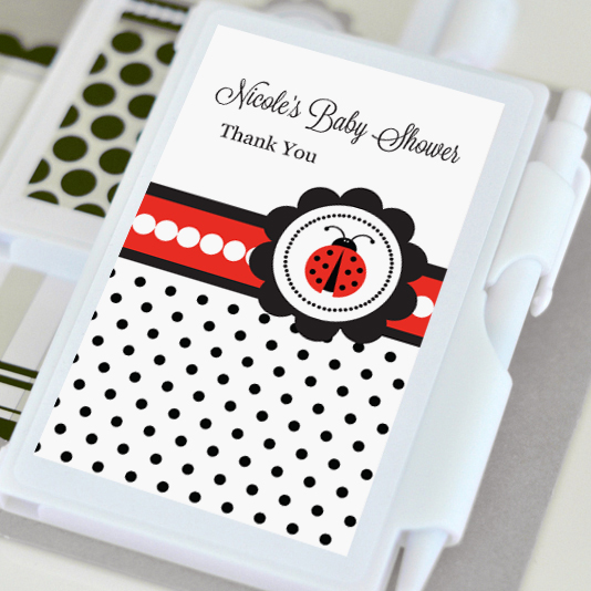 ladybug baby shower notebook favors aa gifts baskets
