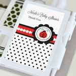 Ladybug Baby Shower Notebook Favors
