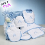 Monogrammed Layette Gift Set