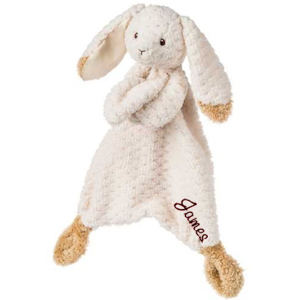 Personalized Oatmeal Bunny Lovey imagerjs